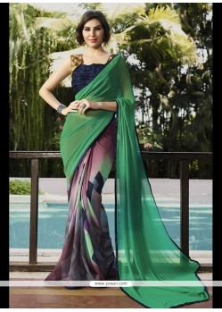 Marvelous Georgette Print Work Printed Saree