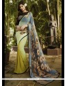 Fab Georgette Multi Colour Print Work Printed Saree