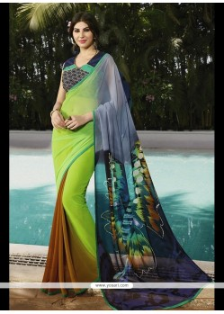 Exceeding Georgette Multi Colour Printed Saree