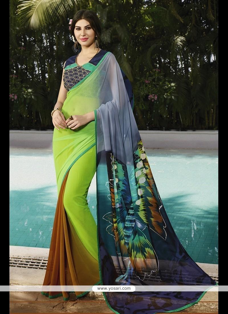 Exceeding Georgette Multi Colour Printed Saree