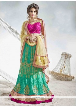 Observable Embroidered Work A Line Lehenga Choli