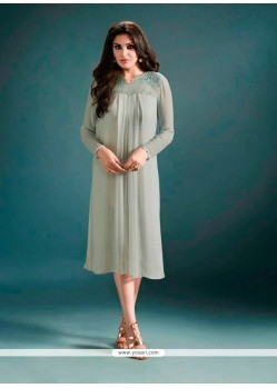 Festal Georgette Embroidered Work Designer Kurti