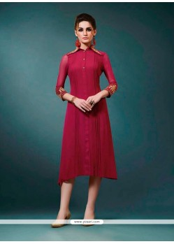 Picturesque Magenta Designer Kurti