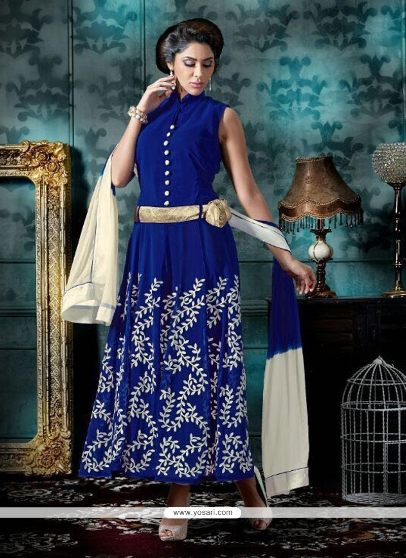 Mesmeric Patch Border Work Designer Salwar Suit