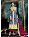Competent Georgette Multi Colour Patch Border Work Designer Salwar Suit