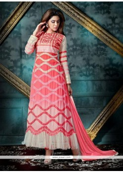 Dainty Patch Border Work Georgette Anarkali Salwar Suit