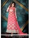 Dainty Patch Border Work Georgette Anarkali Salwar Suit