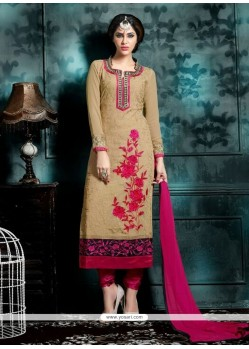 Sensible Embroidered Work Churidar Designer Suit