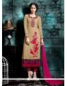 Sensible Embroidered Work Churidar Designer Suit