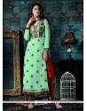 Honourable Sea Green Georgette Churidar Designer Suit