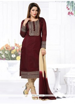 Charming Chanderi Embroidered Work Readymade Suit