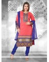 Entrancing Rose Pink Readymade Suit