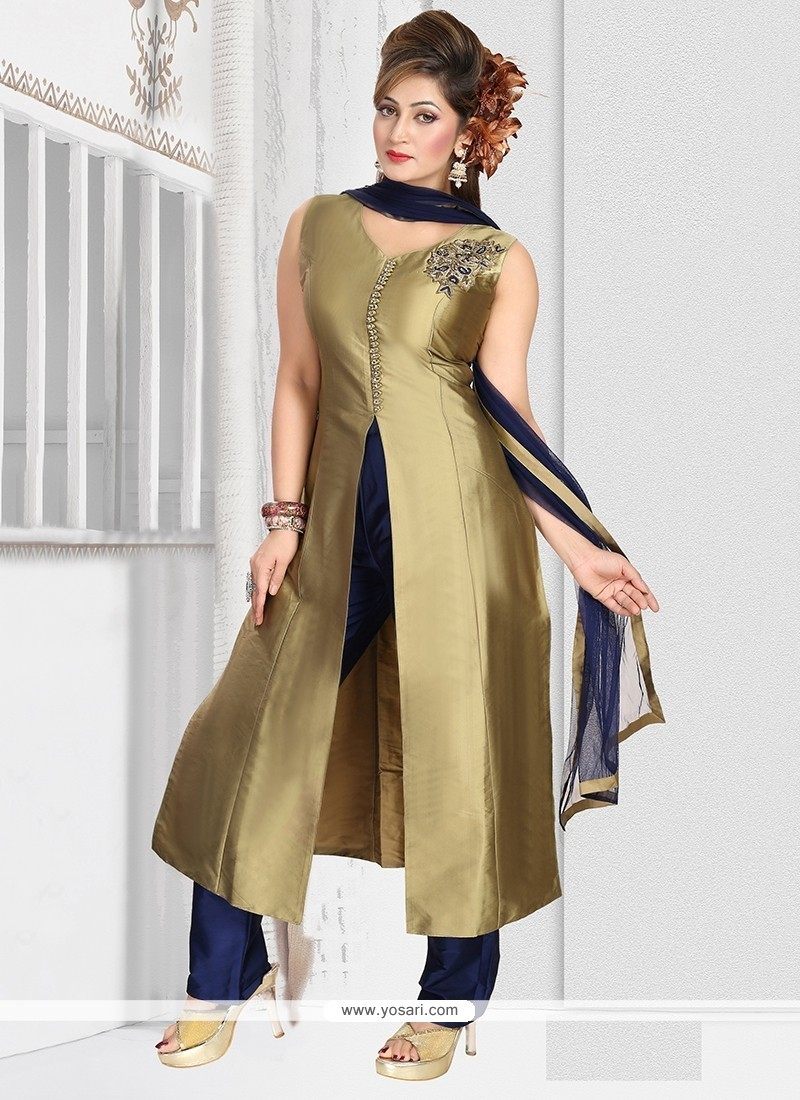 Hypnotic Gold Readymade Suit