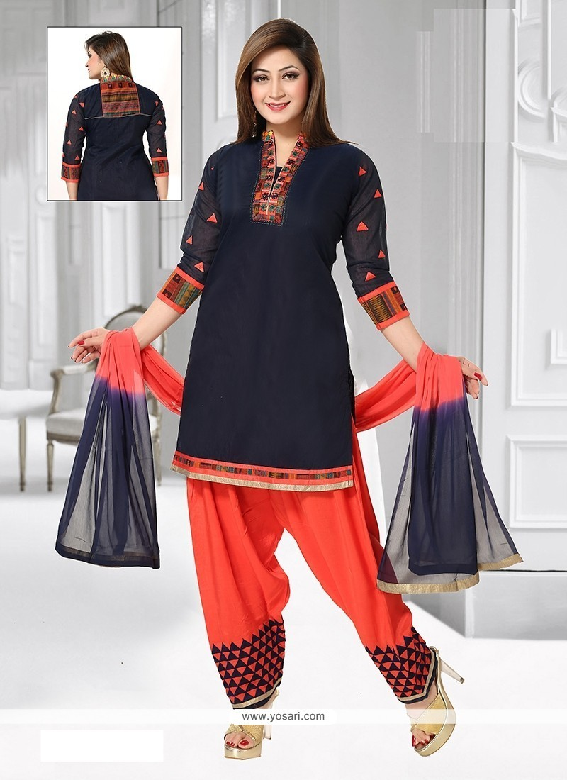 Tempting Embroidered Work Readymade Suit