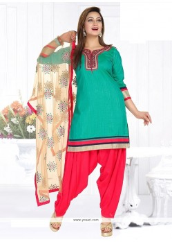 Savory Chanderi Embroidered Work Readymade Suit