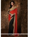 Latest Black And Red Georgette Saree