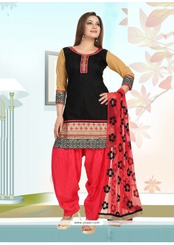 Astounding Chanderi Embroidered Work Readymade Suit