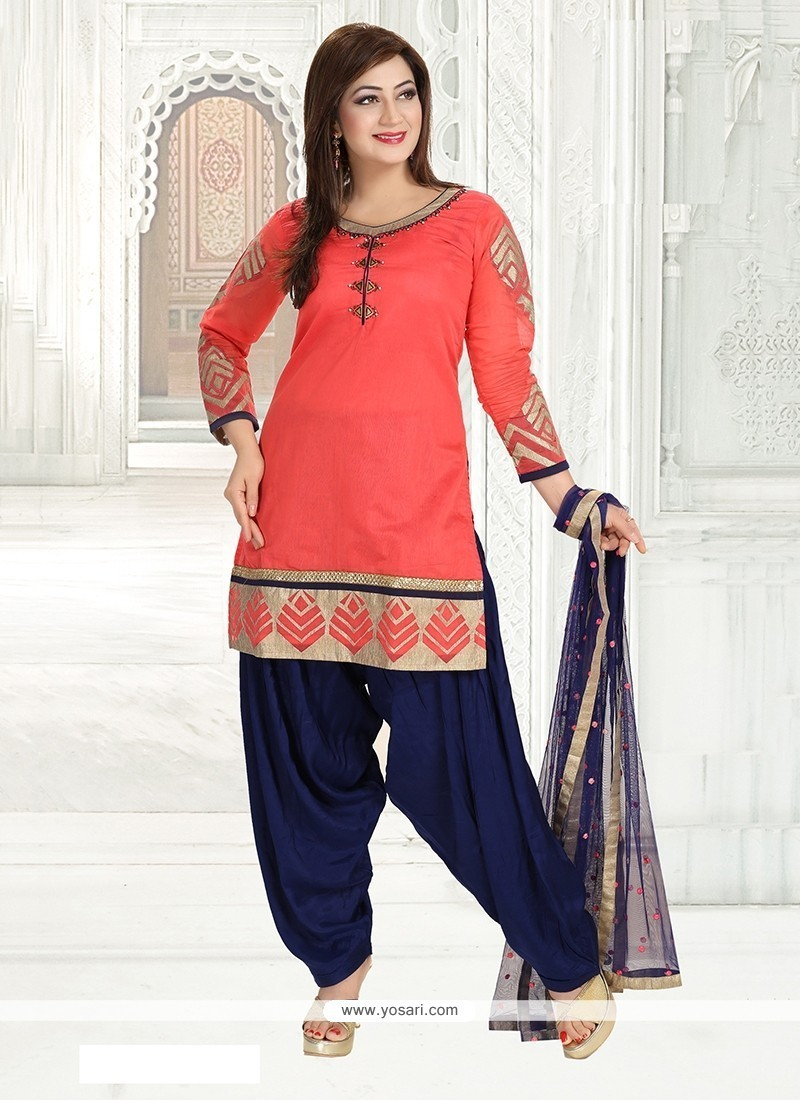 Versatile Chanderi Embroidered Work Readymade Suit