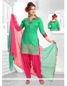 Adorning Embroidered Work Readymade Suit