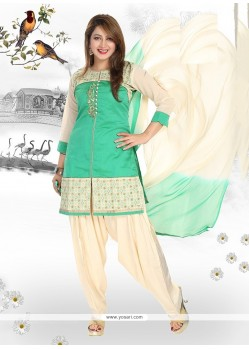 Gripping Chanderi Readymade Suit