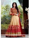 Invaluable Georgette Patch Border Work Anarkali Salwar Kameez