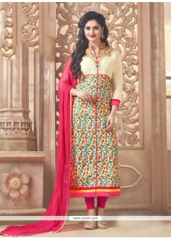 Sunshine Cream Designer Straight Suit