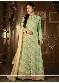 Strange Georgette Embroidered Work Designer Salwar Suit