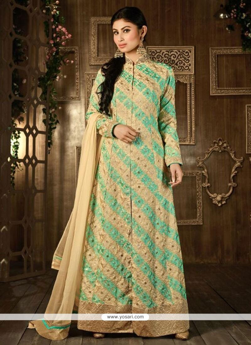 Strange Georgette Embroidered Work Designer Salwar Suit