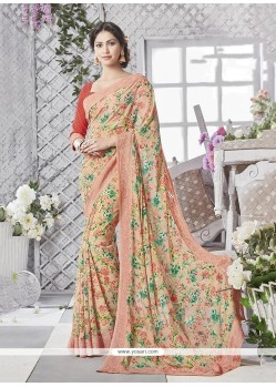 Superlative Print Work Printed Saree