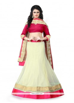 Superb Net Embroidered Work A Line Lehenga Choli
