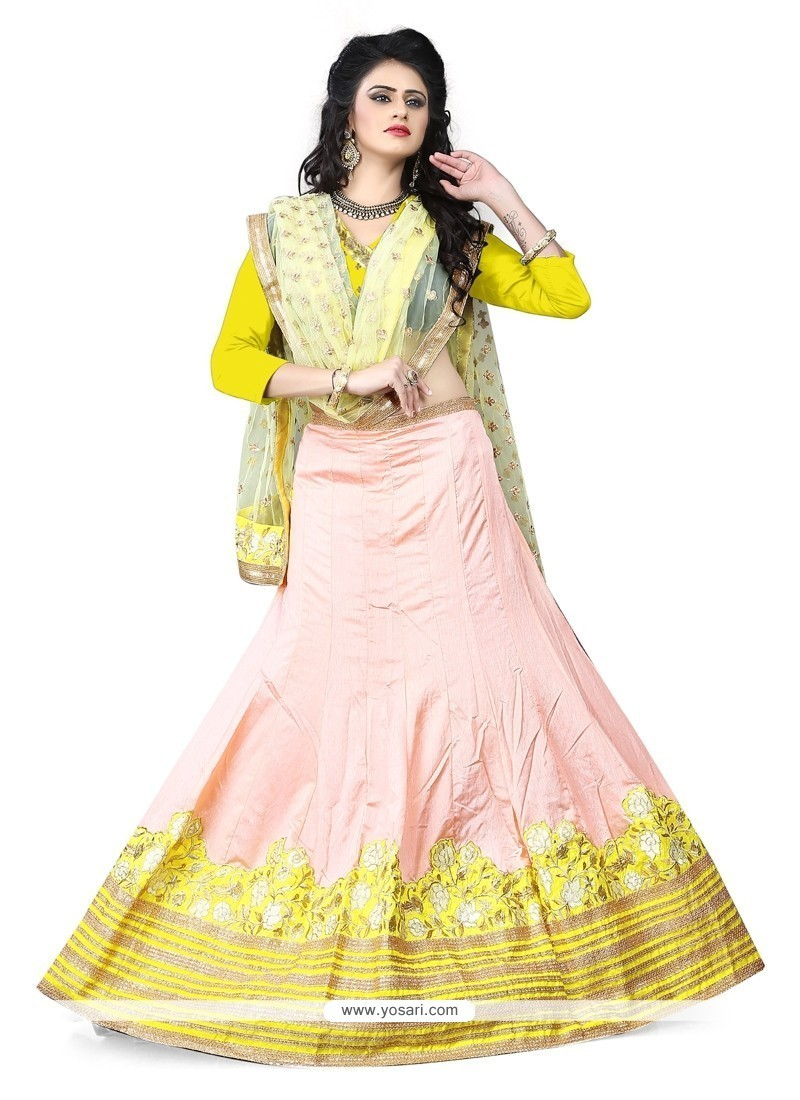 Festal Embroidered Work Art Silk A Line Lehenga Choli