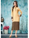 Stunning Print Work Rayon Party Wear Kurti