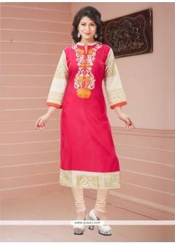 Renowned Rayon Pink Casual Kurti