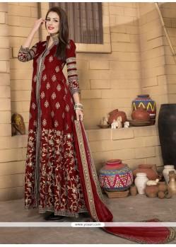 Princely Embroidered Work Banglori Silk Designer Salwar Kameez