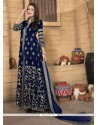 Jazzy Banglori Silk Navy Blue Designer Salwar Kameez