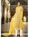 Perfervid Resham Work Yellow Designer Suit