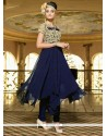 Peppy Navy Blue Georgette Designer Suit