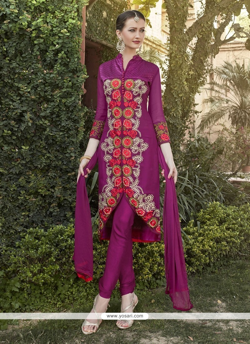 Fascinating Resham Work Georgette Designer Salwar Suit