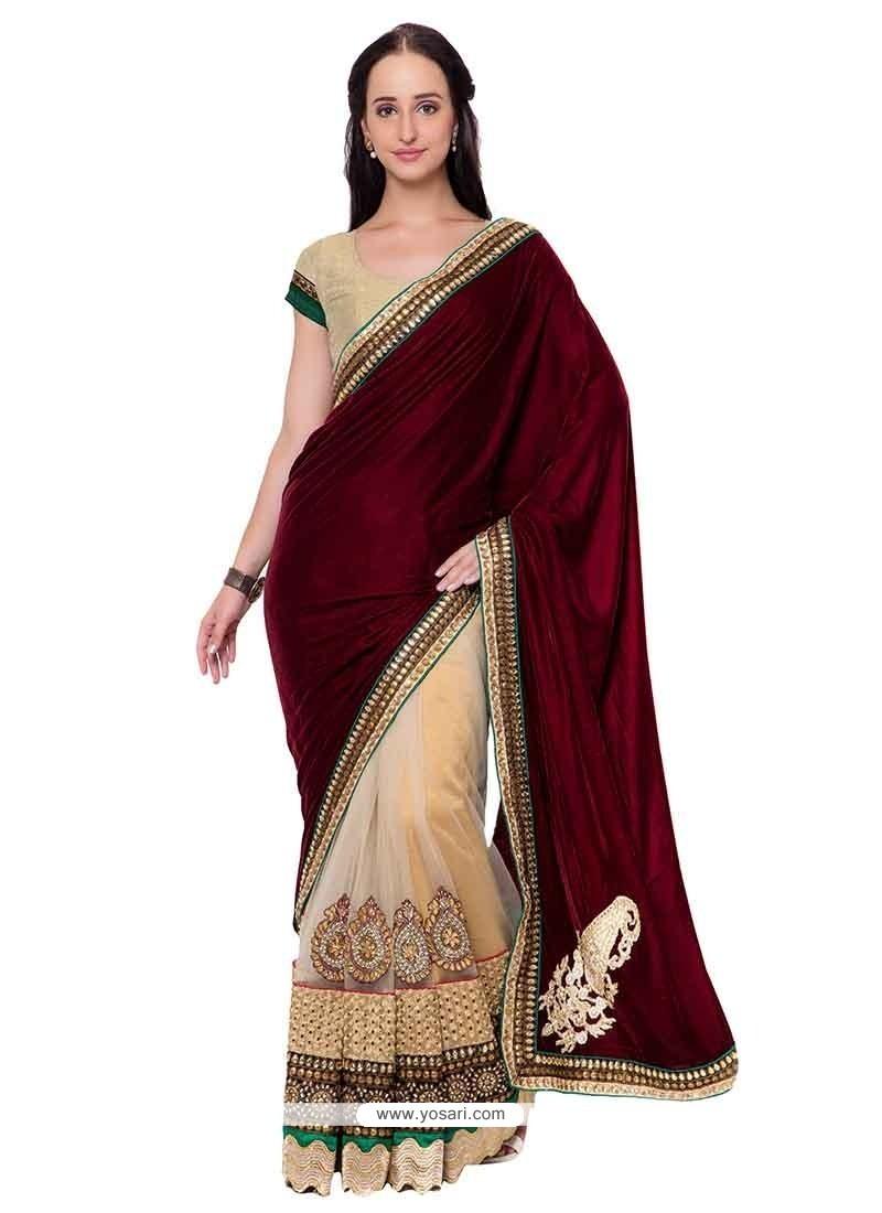 Suave Velvet Classic Designer Saree