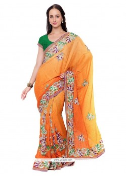 Amazing Patch Border Work Jacquard Classic Saree