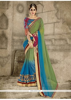 Fetching Multi Colour Designer Saree