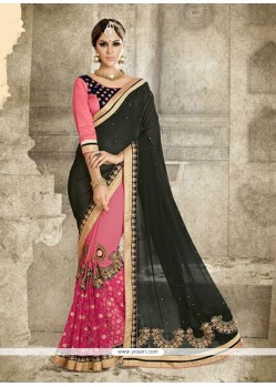 Radiant Embroidered Work Designer Saree