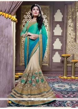 Latest Embroidered Work Designer Saree