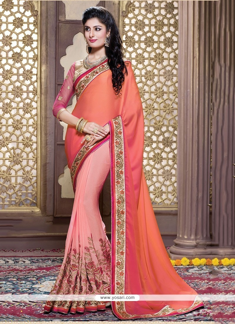 Exceeding Orange Classic Saree