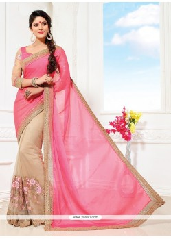 Glowing Faux Chiffon Classic Saree