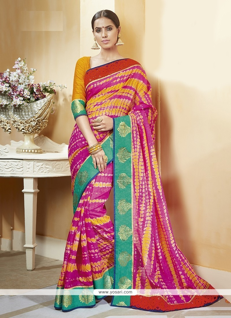 Suave Silk Print Work Printed Saree
