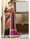 Adorable Print Work Multi Colour Silk Printed Saree
