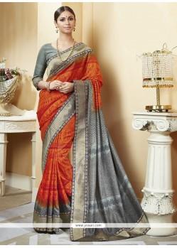 Incredible Multi Colour Silk Printed Saree