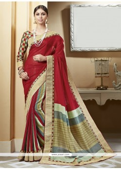 Glowing Print Work Printed Saree