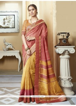 Radiant Multi Colour Print Work Silk Printed Saree